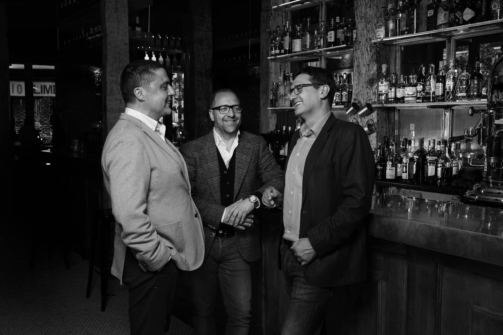 Ricardo Hierro, David Figueroa y Jon Murillas, miembros del equipo de Kanpai!.